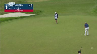 Oosthuizen two clear after 30-footer!