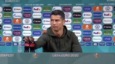 Low: Ronaldo can do more than move bottles!