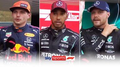 Top three: Verstappen, Hamilton, Bottas