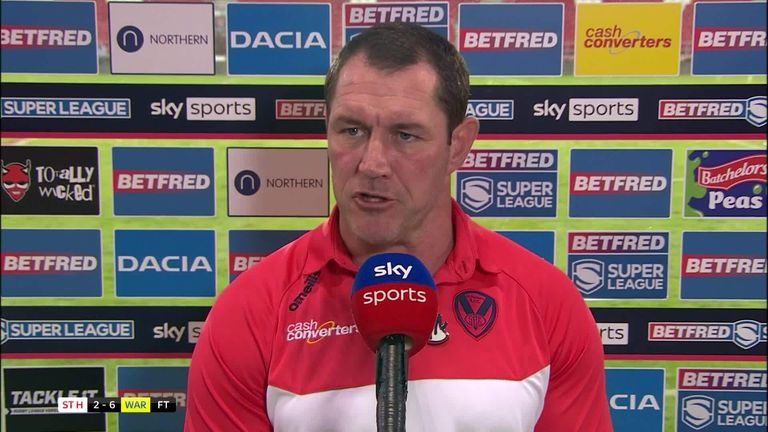 St Helens head coach Kristian Woolf was left frustrated