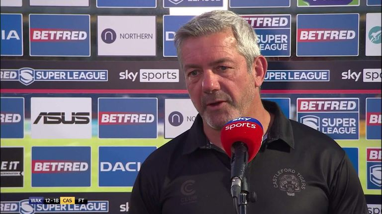 Castleford head coach Daryl Powell was relieved to secure their first Super League victory since April following their hard-fought triumph over Wakefield