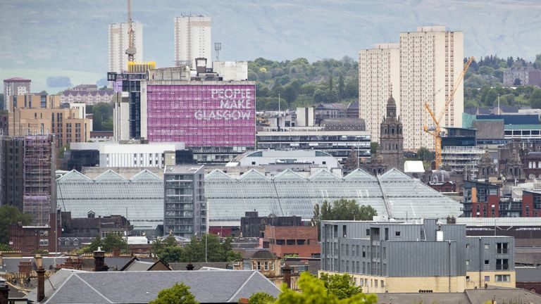 A view from Queen's Park across the city of Glasgow. First Minister Nicola Sturgeon has announced Glasgow will remain in Level Three lockdown as cases remain high in the city. Picture date: Friday May 28, 2021.