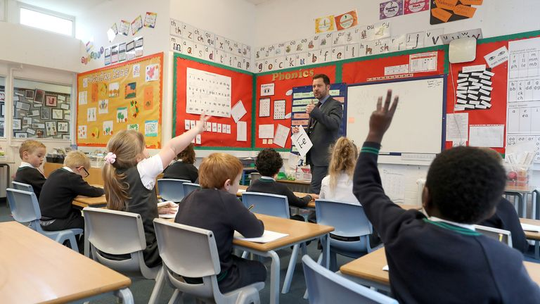 File photo dated 5/11/2020 of pupils during a lesson in a classroom. The proportion of pupils attending state schools in England last week dropped slightly as more children were forced to self-isolate at home, Government figures show. Issue date: Wednesday May 5, 2021.