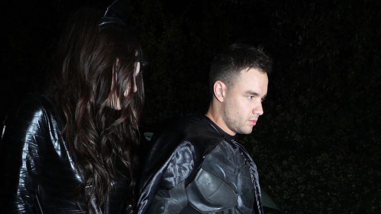 Liam Payne and Maya Henry at a Halloween party hosted by Jonathan Ross at his house in north London.