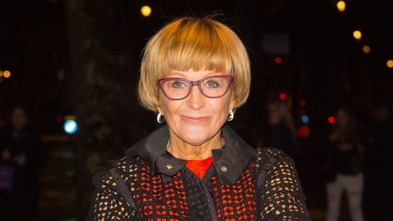 Anne Robinson attending the Specsavers' Spectacle Wearer of the Year Awards at 8 Northumberland Avenue, London.