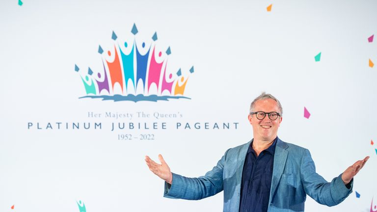 Pageant Master Adrian Evans at the launch of Platinum Jubilee Pageant at the Victoria And Albert Museum, London. Plans have been unveiled for celebrations in June 2022 which will mark the Queen's 70th year on the throne with a Pageant next June. Picture date: Tuesday June 29, 2021.