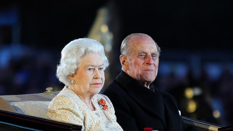 File photo dated 13/05/12 of Queen Elizabeth II and the Duke of Edinburgh arriving at the Diamond Jubilee Pageant in Windsor in Berkshire. The Duke of Edinburgh has died, Buckingham Palace has announced. Issue date: Friday April 9, 2020.. See PA story DEATH Philip. Photo credit should read: Jane Mingay/PA Wire