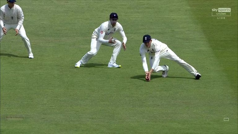Stuart Broad and England thought they had Devon Conway for 22 but the third umpire disagreed