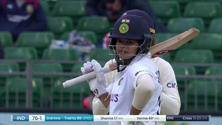 Verma made history by becoming the first Indian woman to make twin fifties on her Test debut, and the youngest player overall