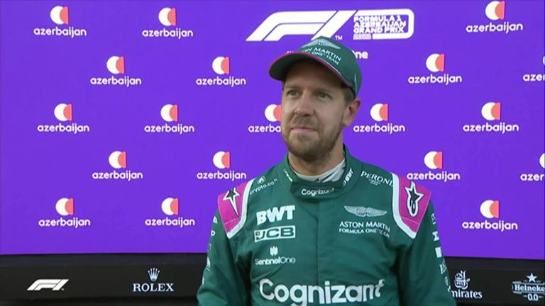 Azerbaijan GP: Sebastian Vettel thrilled by first Aston Martin podium after