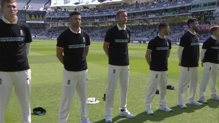 England and New Zealand shared a 'Moment of Unity' ahead of the first Test at Lord's.