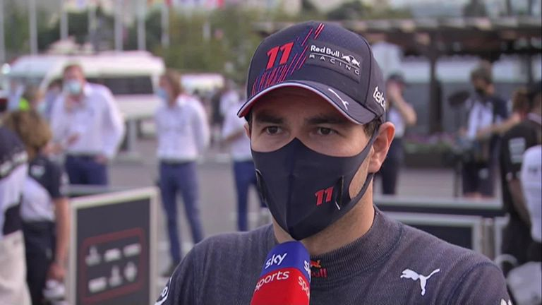 Sergio Perez had an exhausting race after having to hold off Lewis Hamilton