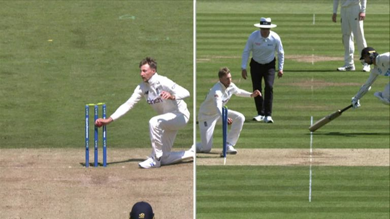 Conway was narrowly run out by England captain Joe Root in the over after completing a 347-ball double ton