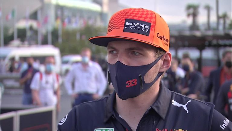 Max Verstappen says he had no warning that his tire was going to burst during the Azerbaijani GP.