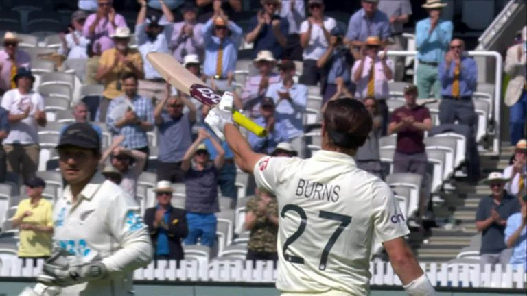 Watch the standout moments from Burns' century at Lord's