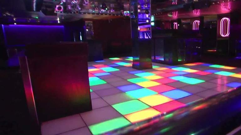 Nightclub dancefloor