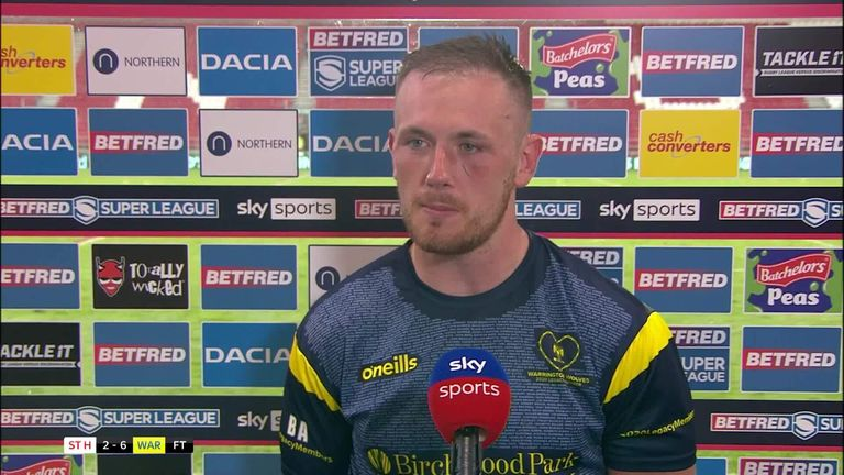 Warrington's Ben Currie talks through the only try in the game