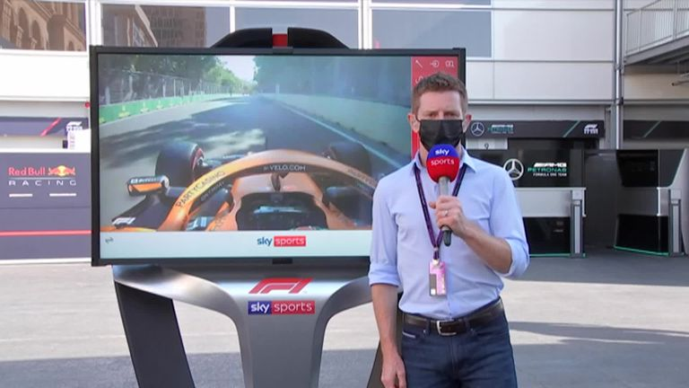 Anthony Davidson was at the SkyPad to take a closer look at that Daniel Ricciardo crash and Lando Norris' decision to stay out during a red flag during Q1