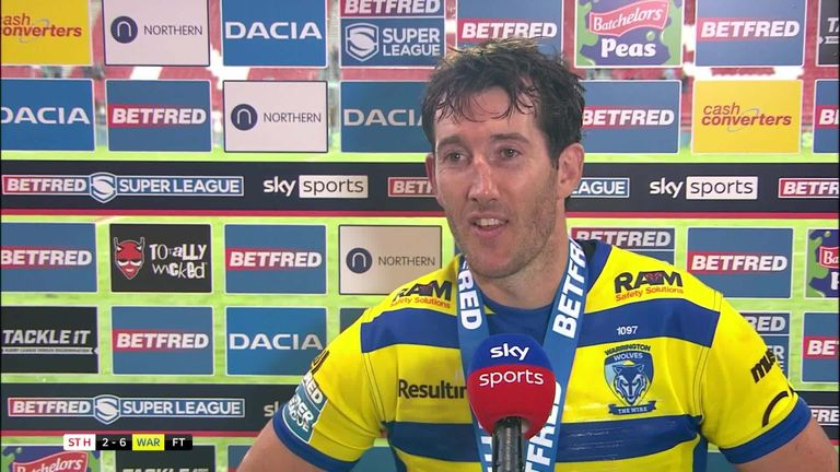 Player of the Match Stefan Ratchford gave his thoughts after his Warrington team showed fight to beat St Helens