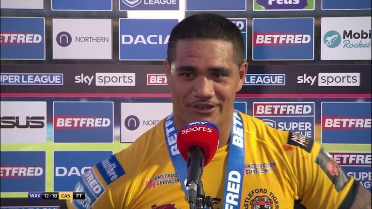 Peter Mata'utia was delighted to secure Castleford's 15th straight win over Wakefield