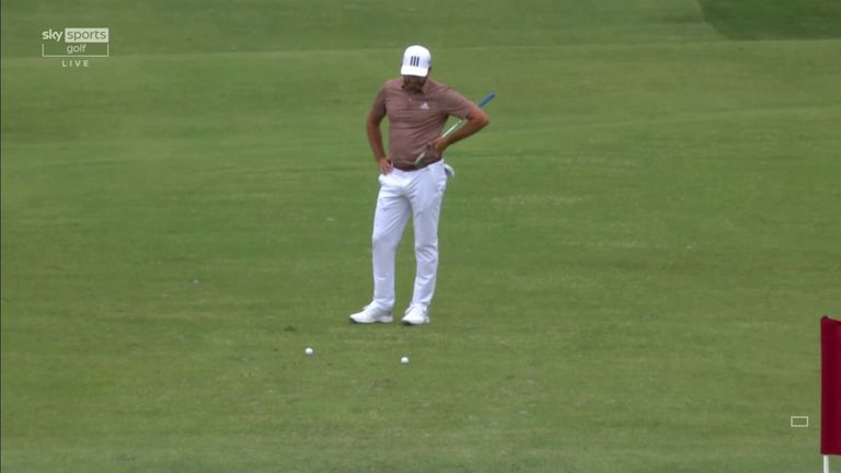 Sergio Garcia saw his ball hit the pin and roll back to his feet in an unfortunate incident during the third round of the US Open.