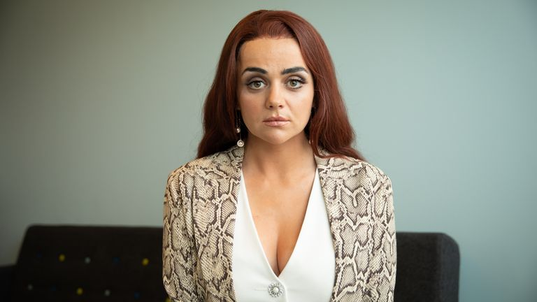 Hayley Squires as Jolene Dollar in Adult Material. Pic: Channel 4