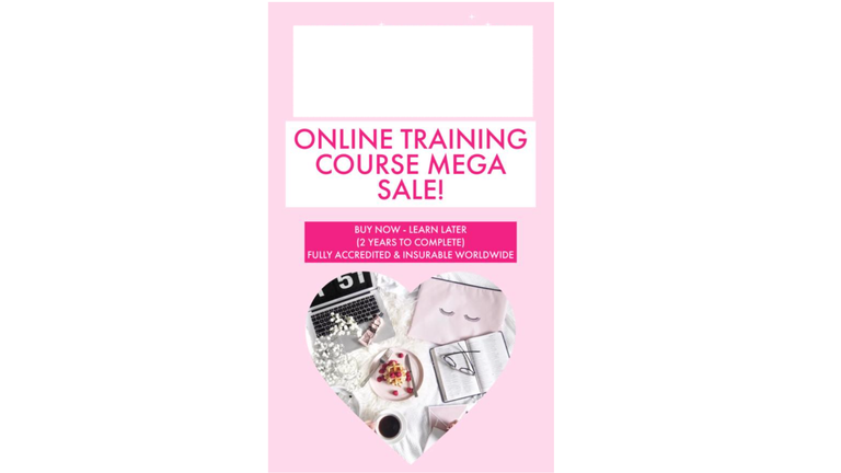 This is another Facebook advert for training in aesthetic treatments.