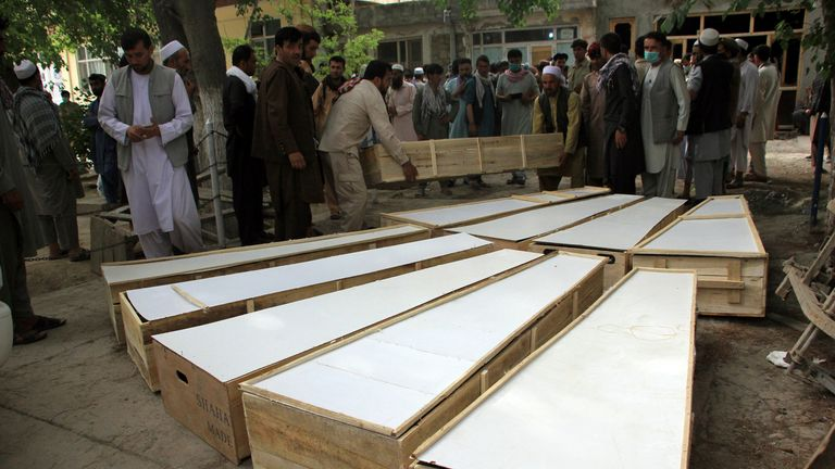 10 people were killed in the attack in northern Baghlan province, Afghanistan. Pic: AP