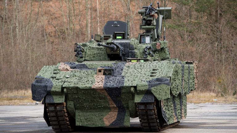 Ajax is the Army's first fully digitised armoured vehicle. Crown Copyright