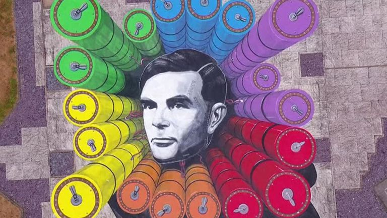Unveiled on Turing's birthday, the work at GCHQ  was created by 3D artist Joe Hill and features 15 hidden codes.