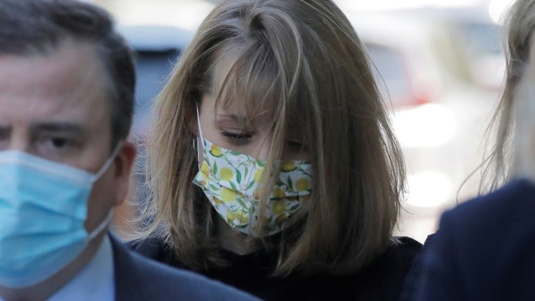 Allison Mack wept in court on Wednesday as she apologised to the victims