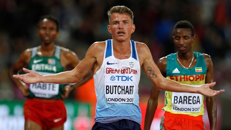 Butchart is a competitor in the 5000m event