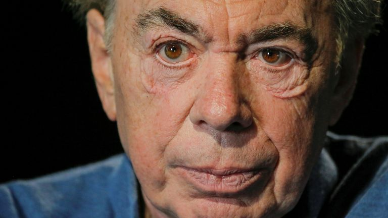 Composer Andrew Lloyd Webber during an interview in 2018 (file pic)