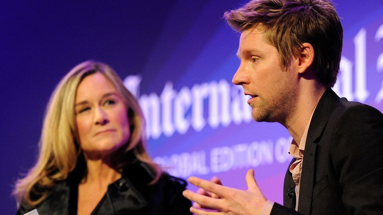 Burberry CEO Angela Ahrendts and Creative Director Christopher Bailey moderated a discussion at the IHT Heritage Luxury conference in London on November 9, 2010.