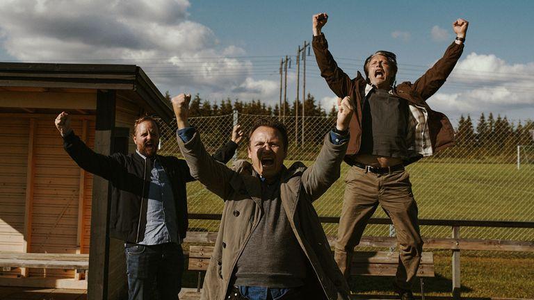 Mads Mikkelsen (right) stars in Thomas Vinterberg's Another Round. Pic: Henrik-Ohsten/ Studio Canal