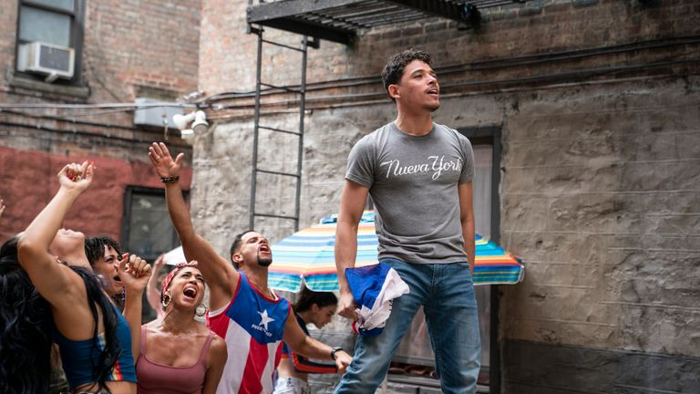 Anthony Ramos leads an ensemble cast in the film. Pic: Warner Bros Studios