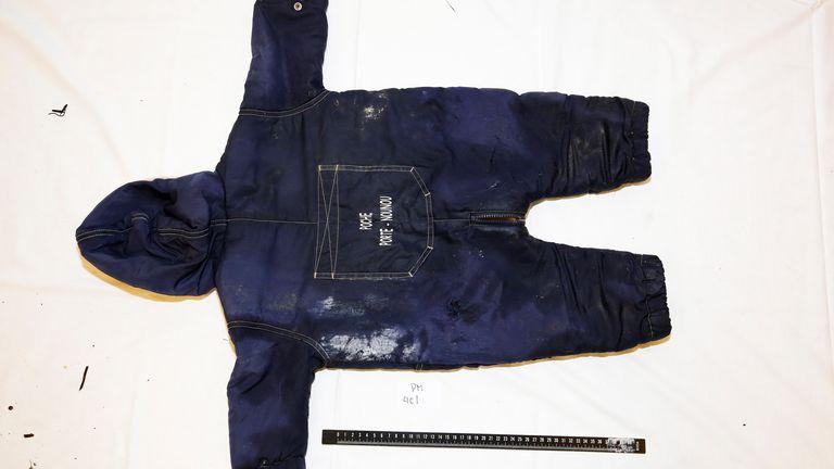 Artin Iran-Nejad's clothes. Norwegian Police/Handout
