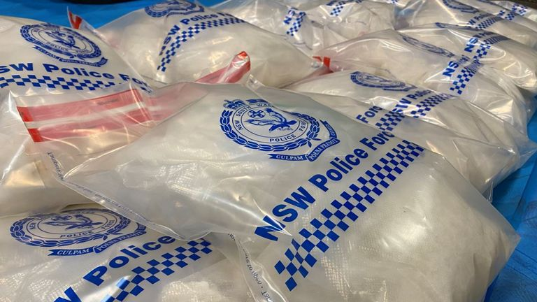 In total, around 3.7 tonnes of drugs were found during the raids Pic: AFP)