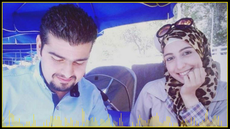 Bassel Shekhany and his wife Zanzon before they fled Syria