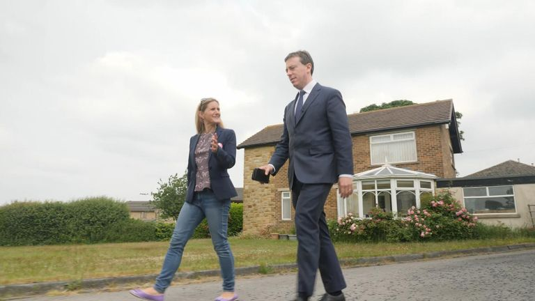 Sam Coates speaks to Labour candidate Kim Leadbeater