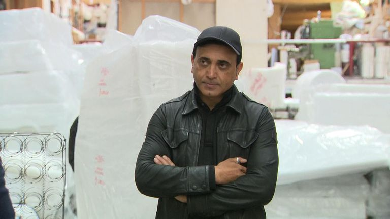 Taf Hussein, who owns a bedmaking business