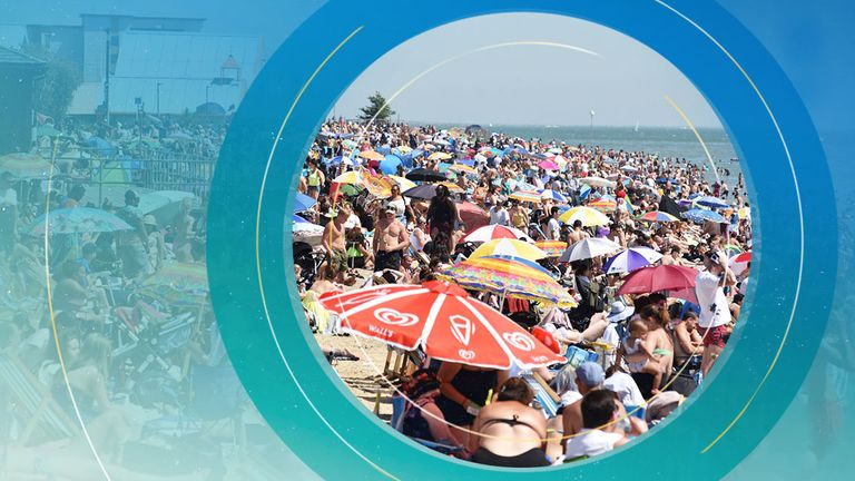 Crowds flocked to beaches during the heatwaves last summer