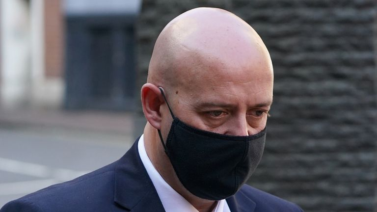 Benjamin Monk arrives at court to give evidence for the first time