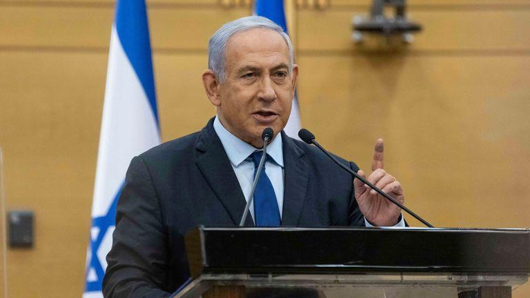 Benjamin Netanyahu. Pic: AP
