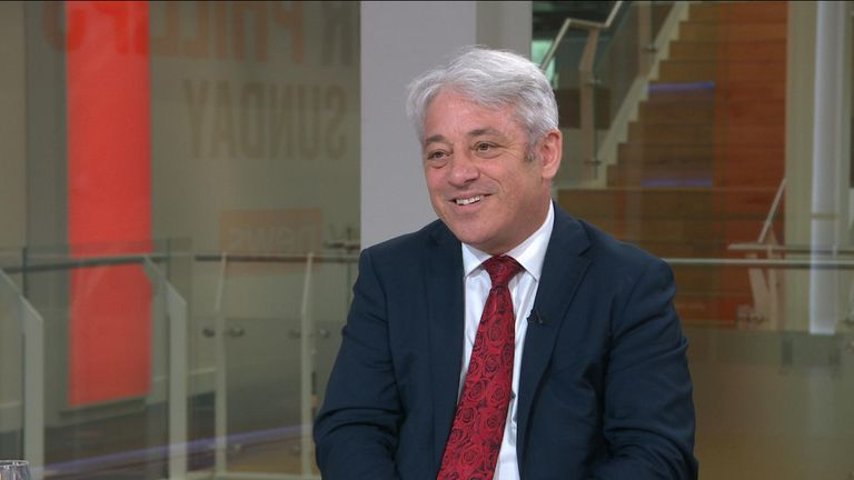 Mr Bercow told Sky News his decision to defect away from the Conservative Party is not to do with Boris Johnson personally.