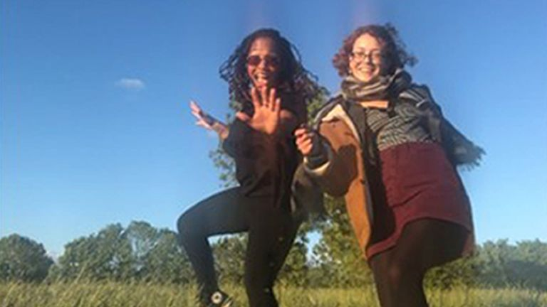 Photo of Bibaa Henry (L) and Nicole Smallman taken from Ms Bibaa's phone in Fryent Country Park