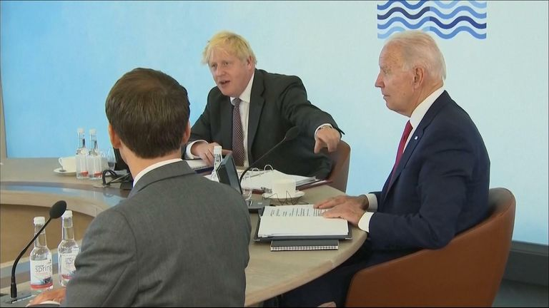 Boris Johnson insists that he already introduced the president of South Africa as Biden attempts to introduce him to the G7 table