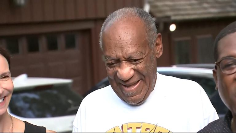 Mr Cosby outside his home
