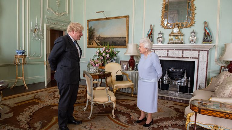 Boris and the Queen met at Buckingham Palace today