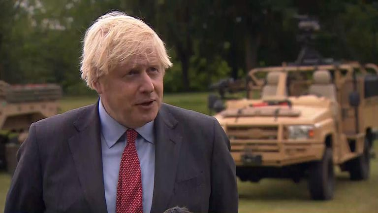 Prime Minister Boris Johnson said the Navy vessel proceeded 'in accordance with the law'